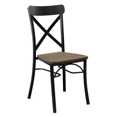 Solid Wood Dining Chair Color: Black/Black