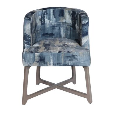 Corington Upholstered Dining Chair Upholstery: Blue/Gray