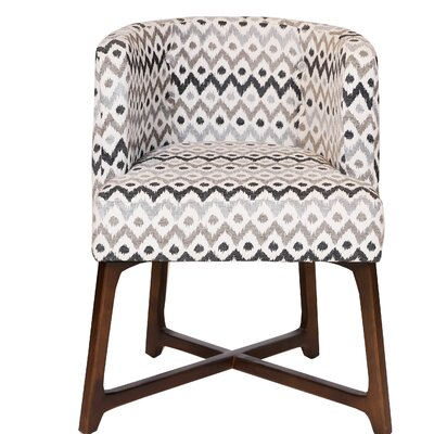 Corington Upholstered Dining Chair Upholstery: Brown/Beige