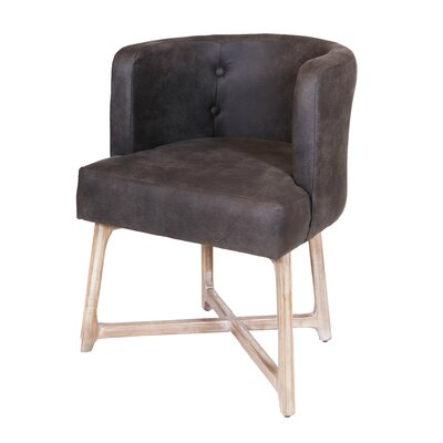 Corington Upholstered Dining Chair Upholstery: Charcoal