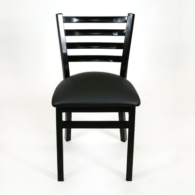 Hinnenkamp Ladder Back Dining Chair Color: Black
