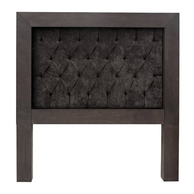 Mandir Queen Upholstered Panel Headboard Color: Gray