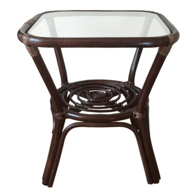 Helena Rattan Coffee Table Finish: Dark Brown