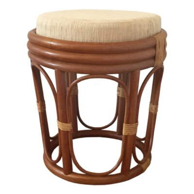 Romeo Rattan Ottoman Finish: Light Brown