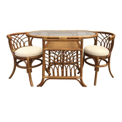Curtice 3 Piece Bistro Set Finish: Light Brown