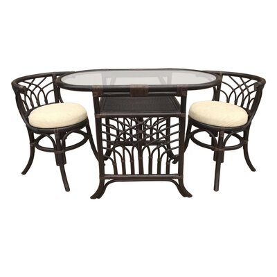 Curtice 3 Piece Bistro Set Finish: Dark Brown