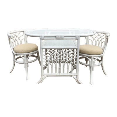 Curtice 3 Piece Bistro Set Finish: White