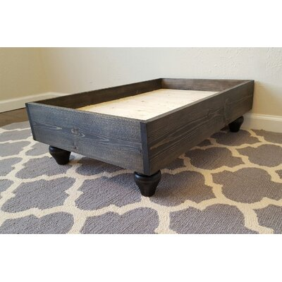 My Best Friends Solid Wood Pet Bed Color: Ebony, Size: Large (36 L x 27 W)