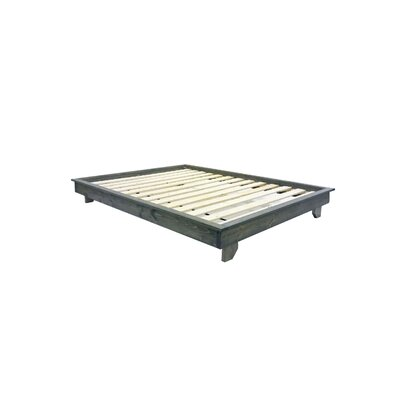 Ava Solid Wood Platform Bed Size: King, Color: Classic Gray