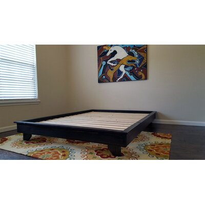 Ava Solid Wood Platform Bed Size: King, Color: Ebony