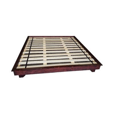 Ava Solid Wood Platform Bed Size: King, Color: Red Mahogany