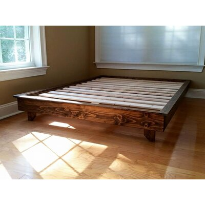 Ava Solid Wood Platform Bed Size: Twin, Finish: Dark Walnut