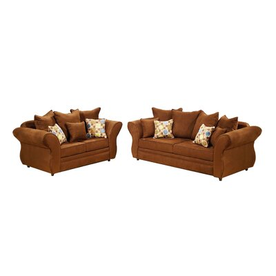 Chocolate 2 Piece Living Room Set