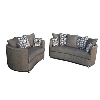 Paris 2 Piece Living Room Set