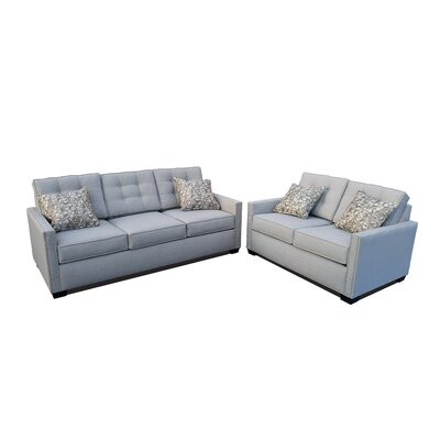 Laguna 2 Piece Living Room Set Upholstery Color: Light Gray
