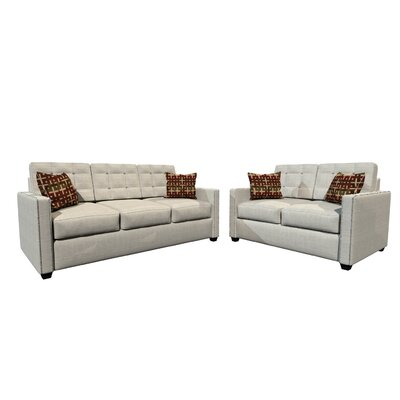 Laguna Sofa and Loveseat Set Upholstery Color: Gray
