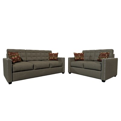 Laguna 2 Piece Living Room Set Upholstery Color: Dark Gray