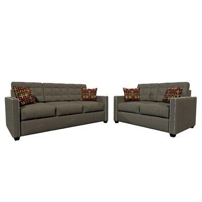Laguna Sofa and Loveseat Set Upholstery Color: Dark Gray