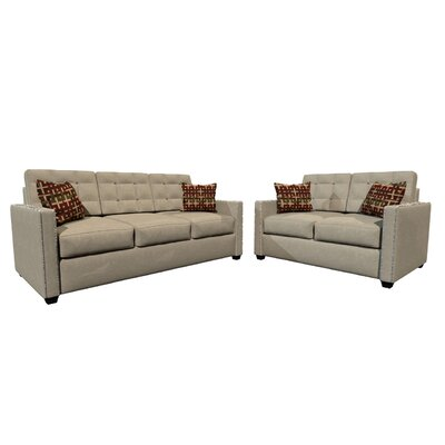 Laguna Sofa and Loveseat Set Upholstery Color: Beige