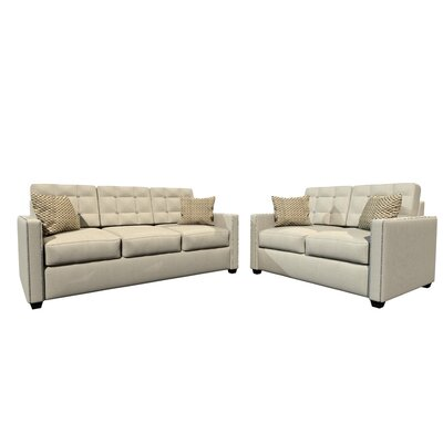 Laguna 2 Piece Living Room Set Upholstery Color: Light Beige