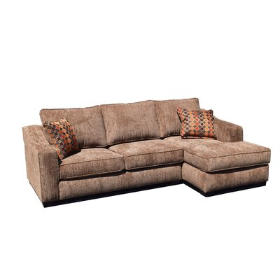 Marilla Sectional Upholstery: Brown