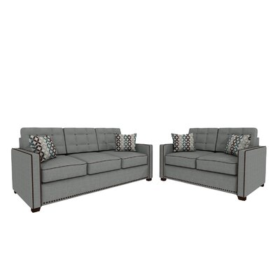 Bakerstown Sofa and Loveseat Set Upholstery: Gray