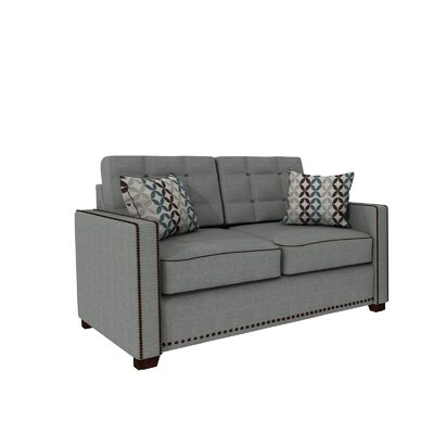Bakerstown Loveseat Upholstery: Gray