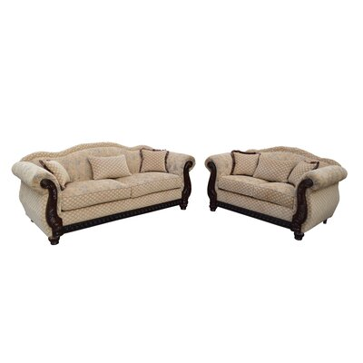 New England 2 Piece Living Room Set
