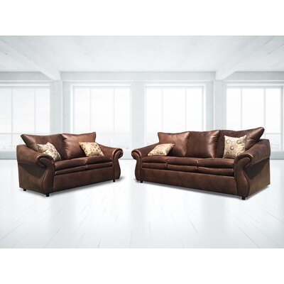 Hessville Sofa and Loveseat Set