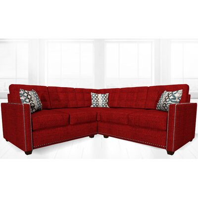 McEwan Sectional Upholstery: Red Wine