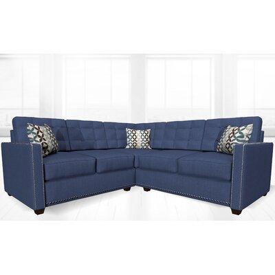 McEwan Sectional Upholstery: Dark Blue