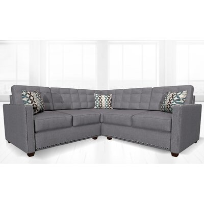 McEwan Sectional Upholstery: Light Gray