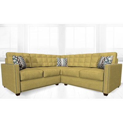 McEwan Sectional Upholstery: Yellow/Green