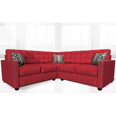 McEwan Sectional Upholstery: Red