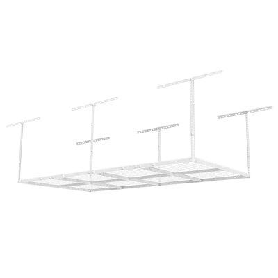 fleximounts white heavy duty adjustable overhead garage storage rack