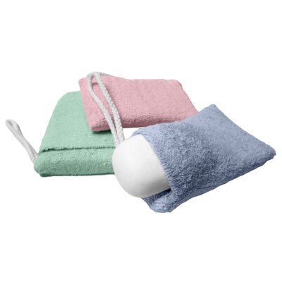 Terry Cloth Soap Pouch Washcloth