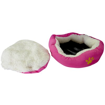 Evelots Small Round Soft Pet Bed Bolster Color: Pink