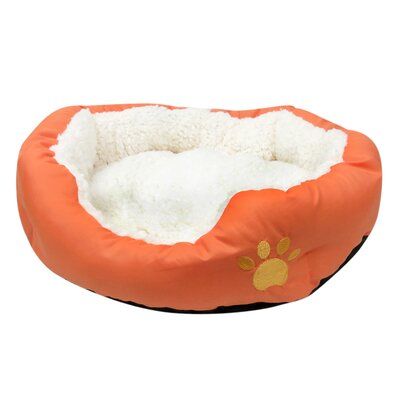 Evelots Small Round Soft Pet Bed Bolster Color: Orange