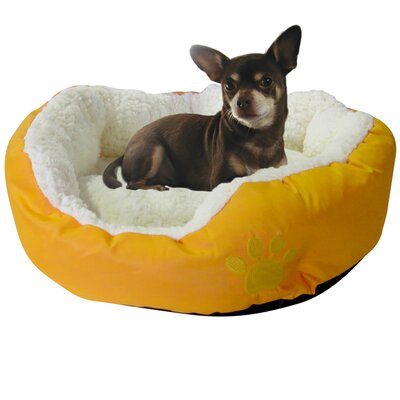 Evelots Small Round Soft Pet Bed Bolster Color: Yellow