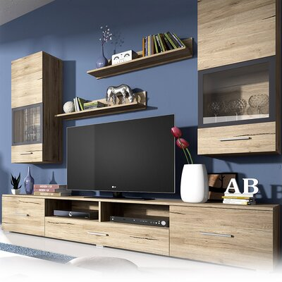 Sarah Entertainment Center Color: San Remo Oak
