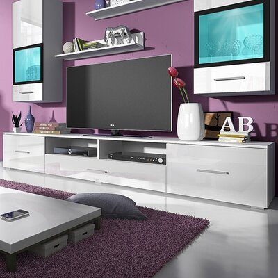 Sarah Entertainment Center Color: Gloss White