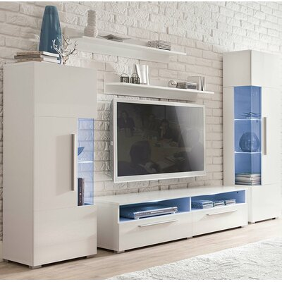 Coco Entertainment Center Color: Gloss White