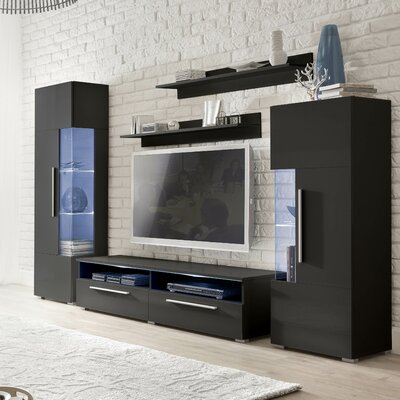 Coco Entertainment Center Color: Gloss Black