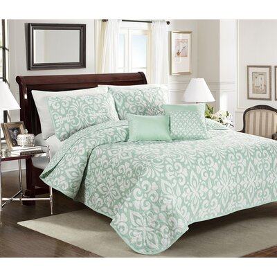 Costa Beach 5 Piece Quilt Set Size: Full/Queen