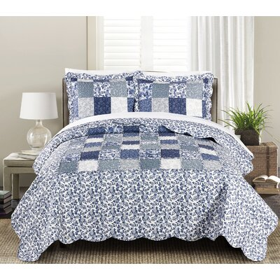 Joyanna Indigo 2-3 Piece Quilt Set Size: Full/Queen