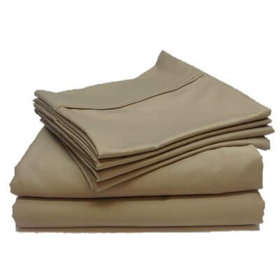 Leah 800 Thread Count Sheet Set Size: Twin, Color: Tan