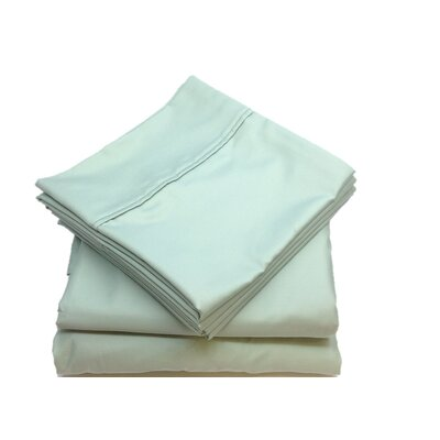 Leah 800 Thread Count Sheet Set Size: Full, Color: Aqua
