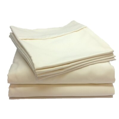 Leah 800 Thread Count Sheet Set Size: Twin, Color: Beige