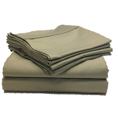 Leah 800 Thread Count Sheet Set Size: Full, Color: Gray
