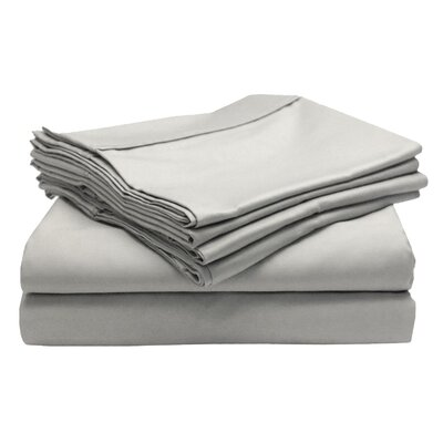 Leah 800 Thread Count Sheet Set Size: Twin, Color: White